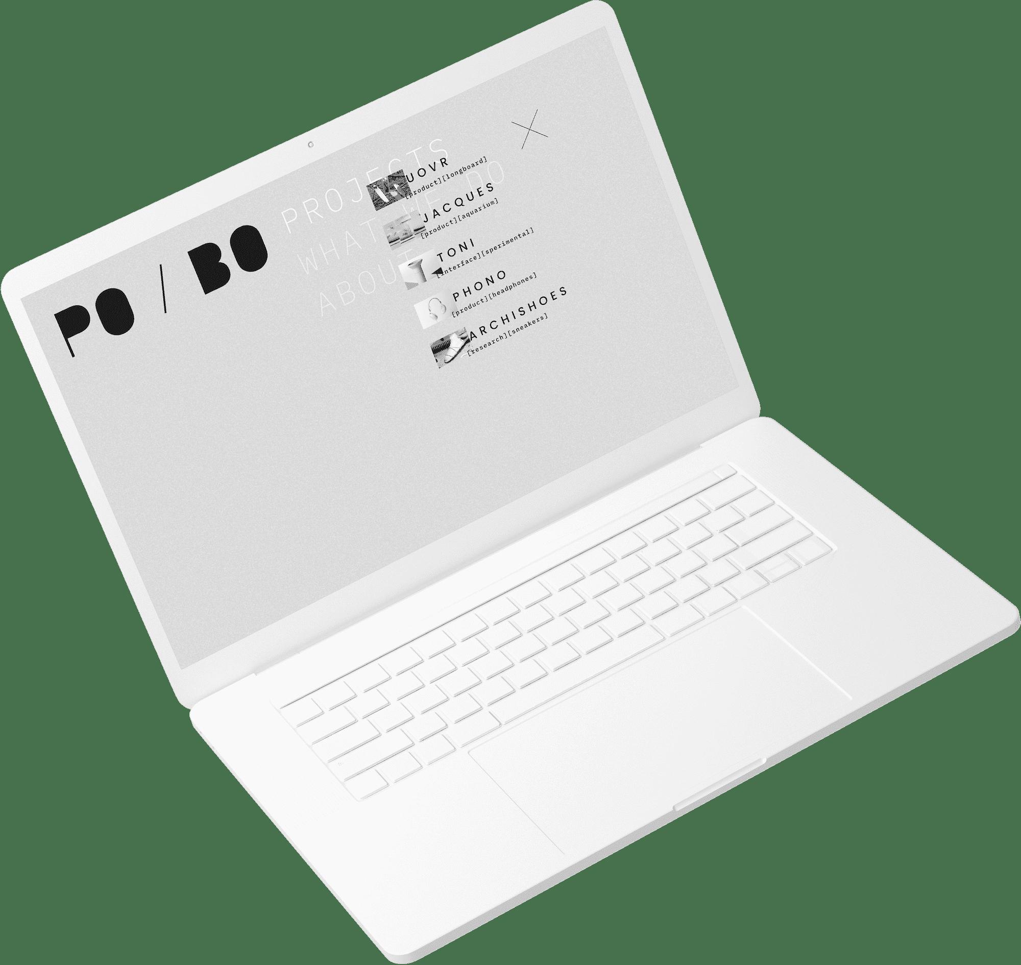 Sito web PO/BO da computer