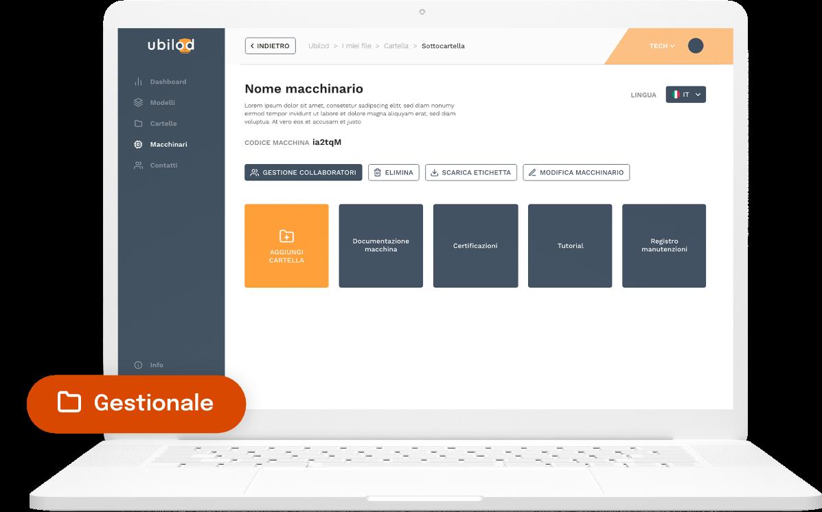 Ubilod - Piattaforma gestionale da computer