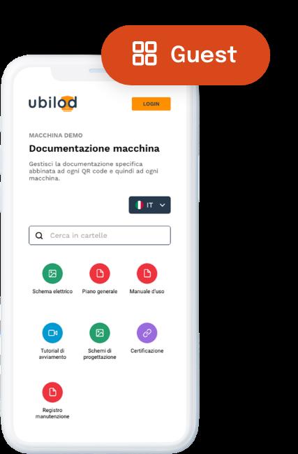 Ubilod - Piattaforma utente ospite da iphone